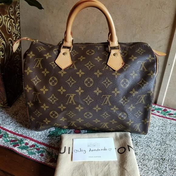 90ee9329f1a9 Louis Vuitton Handbags - AUTHENTIC Louis Vuitton Speedy 30 monogram canvas